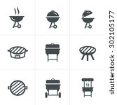 The Grill Icon. Barbeque Symbol.