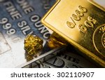 Close Up Of A Gold Ingot And...