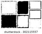 grunge frame texture set  ... | Shutterstock .eps vector #302115557