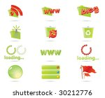 green icon set and the red... | Shutterstock .eps vector #30212776