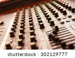 control audio panel. | Shutterstock . vector #302129777