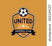 soccer football badge logo...   Shutterstock .eps vector #302134127