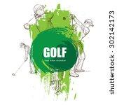 illustration of golf. | Shutterstock .eps vector #302142173