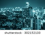 abstract blur bangkok city... | Shutterstock . vector #302152133