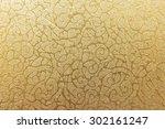 golden floral ornament brocade... | Shutterstock . vector #302161247