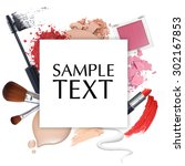 cosmetic promotion frame on a... | Shutterstock . vector #302167853