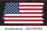 grunge usa flag.american flag... | Shutterstock .eps vector #302190293
