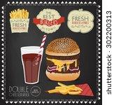 hamburger illustration. burger...