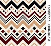 geometric vector pattern in... | Shutterstock .eps vector #302205083