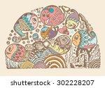 fish vector | Shutterstock .eps vector #302228207