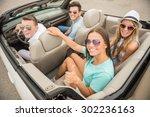 happy friends in sunglasses...   Shutterstock . vector #302236163