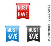 must have labels | Shutterstock .eps vector #302272913