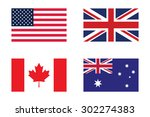 set of flag   united states of...