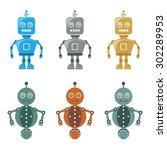robots | Shutterstock .eps vector #302289953
