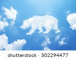 bear cloud shape on sky. | Shutterstock . vector #302294477