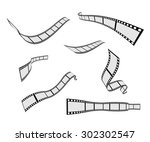 film strip roll design element... | Shutterstock .eps vector #302302547