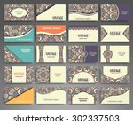business cards. vintage... | Shutterstock .eps vector #302337503
