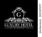 luxury logo template in vector... | Shutterstock .eps vector #302339297