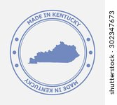 made in kentucky seal. sign of... | Shutterstock .eps vector #302347673