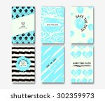 set of the grunge card... | Shutterstock .eps vector #302359973