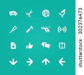 medical icons universal set for ... | Shutterstock .eps vector #302376473
