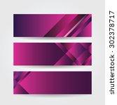 horizontal purple banners... | Shutterstock .eps vector #302378717