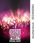 disco party background   vector ... | Shutterstock .eps vector #302400083