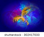 modern abstract background... | Shutterstock . vector #302417033