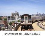 Brooklyn Skyline With Subway...