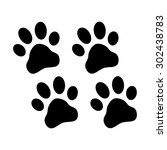 paws print | Shutterstock .eps vector #302438783