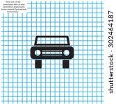 car icon | Shutterstock .eps vector #302464187