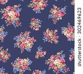 rose flower pattern  | Shutterstock .eps vector #302469623