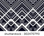 geometric ethnic pattern design ... | Shutterstock .eps vector #302470793