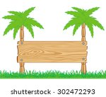 pointer threaded wooden on two... | Shutterstock . vector #302472293