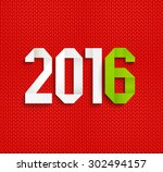 new 2016 year greeting card... | Shutterstock .eps vector #302494157