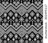 tribal art boho seamless... | Shutterstock .eps vector #302495117
