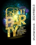 fashion party vector poster... | Shutterstock .eps vector #302498813
