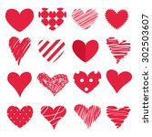 set of hearts | Shutterstock .eps vector #302503607