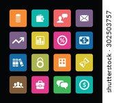 finance icons universal set for ... | Shutterstock .eps vector #302503757
