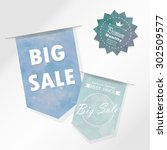 light blue tone tag on mid year ... | Shutterstock .eps vector #302509577