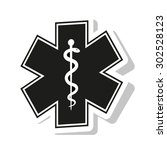medical symbol of the emergency ... | Shutterstock .eps vector #302528123