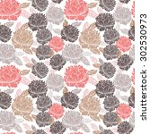 vector seamless pattern with...   Shutterstock .eps vector #302530973