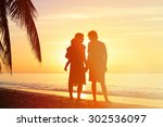 happy family together  romantic ... | Shutterstock . vector #302536097
