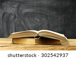 dirty wall and open book