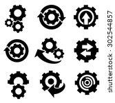 gears icons vector. | Shutterstock .eps vector #302544857
