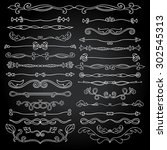 vintage style doodles ...   Shutterstock .eps vector #302545313