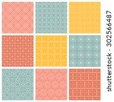 geometric patterns. set of... | Shutterstock .eps vector #302566487