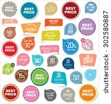 badges and labels collection | Shutterstock .eps vector #302580887