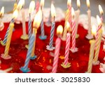 celebratory cake and burning... | Shutterstock . vector #3025830