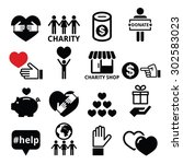 charity  helping other people... | Shutterstock .eps vector #302583023
